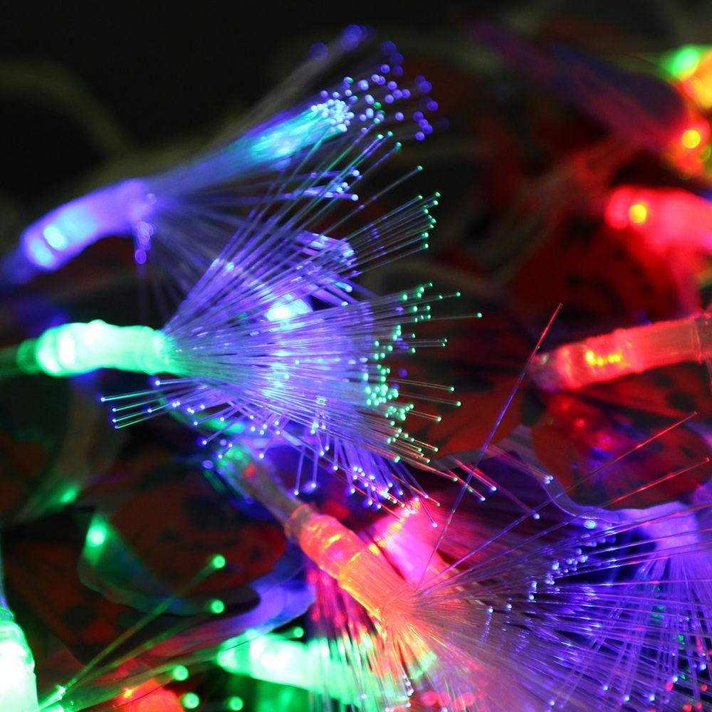 Fiber Optic Christmas Lighting  3 2M 20LED Butterfly Lights Fiber Optic Fairy String Light