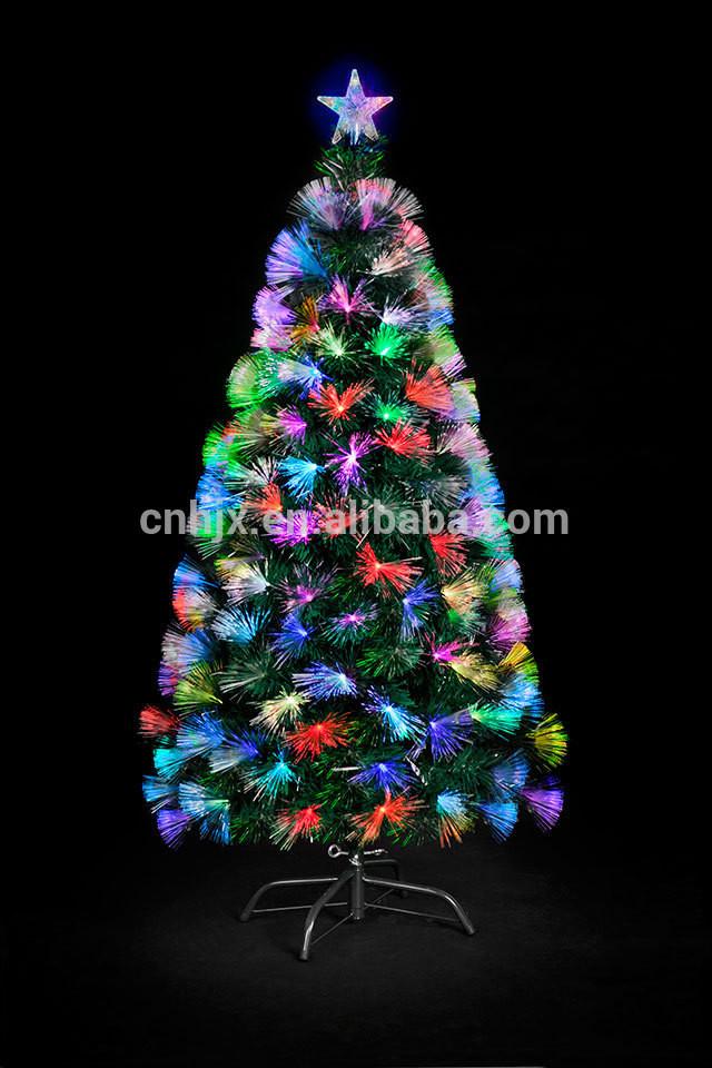 Fiber Optic Christmas Lighting  Artifical Fiber Optic Lighting Christmas Tree Top Star