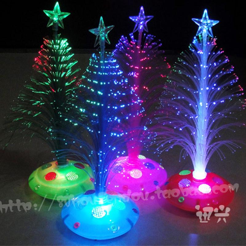 Fiber Optic Christmas Lighting  Christmas 2015 25 cmchristmas tree fiber optic light color