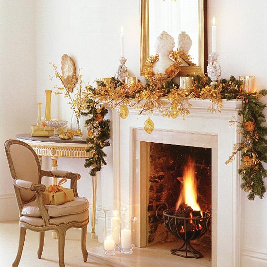 Fireplace Mantel Christmas Ideas  Christmas Ideas Christmas Fireplace Decoration Xmas