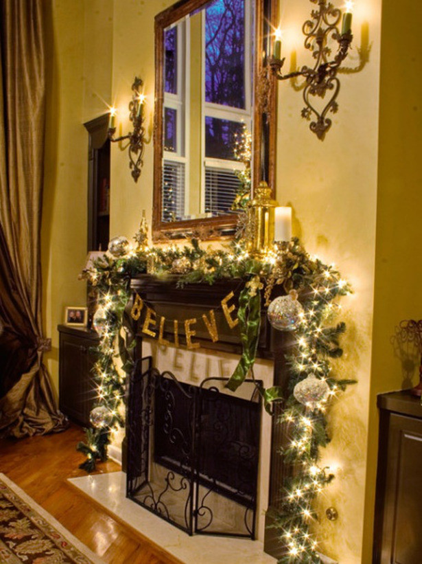 Fireplace Mantel Christmas Ideas  Christmas and Holiday Mantel Designs and Ideas Design