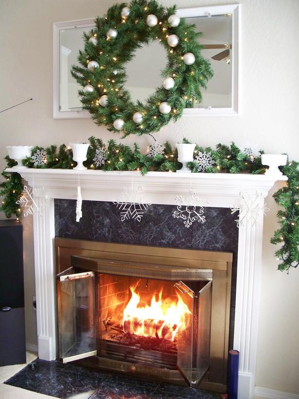 Fireplace Mantel Christmas Ideas  Fireplace Mantels