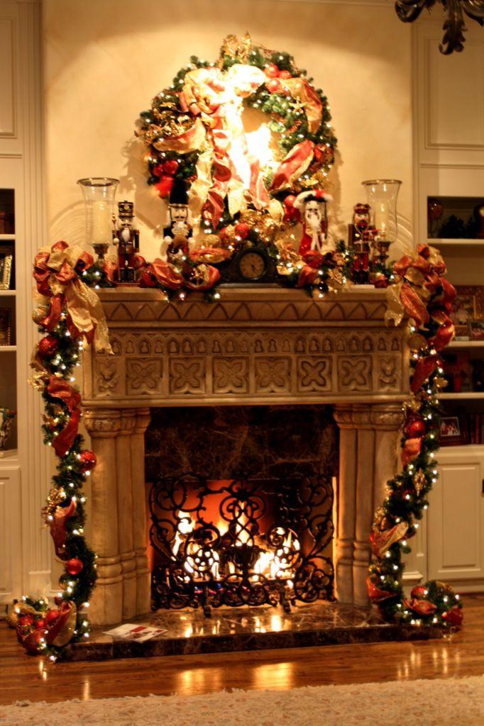 Fireplace Mantel Christmas Ideas  Christmas Fireplace Decoration – Interior Designing Ideas