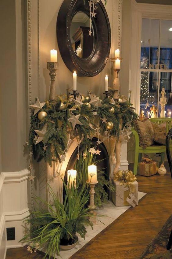 Fireplace Mantel Christmas Ideas  36 Ways to Decorate the Christmas Fireplace Mantel Hello