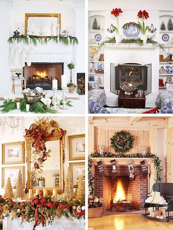 Fireplace Mantel Christmas Ideas  40 Christmas Fireplace Mantel Decoration Ideas
