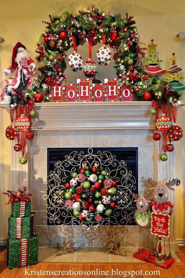 Fireplace Mantel Christmas Ideas  25 Gorgeous Christmas Mantel Decoration Ideas & Tutorials