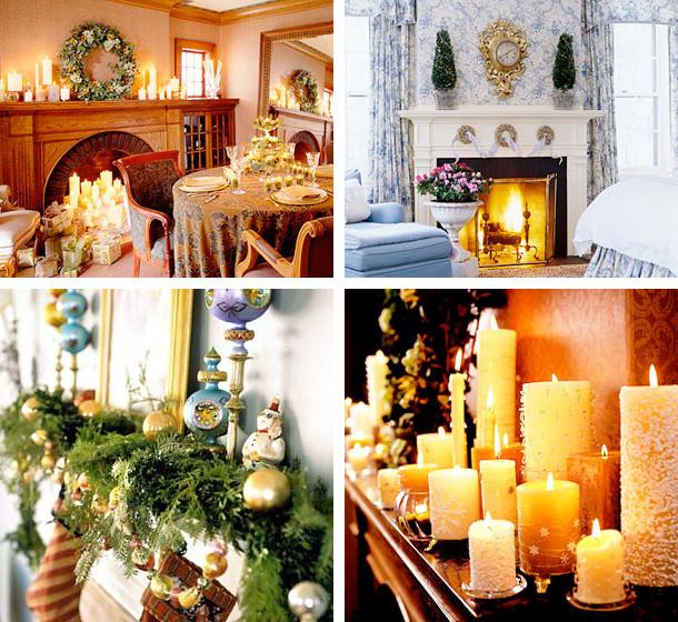 Fireplace Mantel Christmas Ideas  33 Mantel Christmas Decorations Ideas DigsDigs