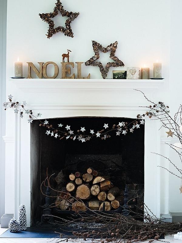 Fireplace Mantel Christmas Ideas  50 Christmas Mantle Decoration Ideas