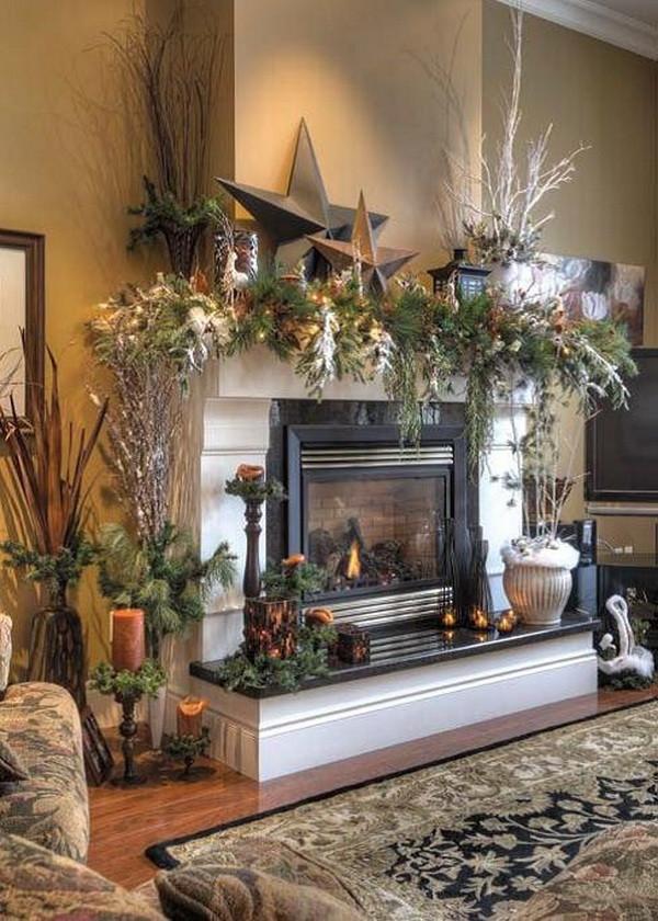Fireplace Mantel Christmas Ideas  Christmas Decoration Ideas for Fireplace