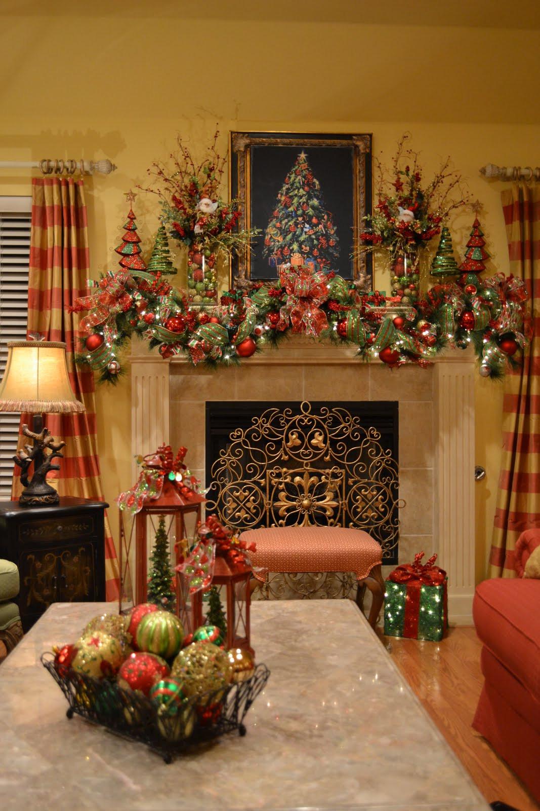 Fireplace Mantel Christmas Ideas  Kristen s Creations Christmas Tree Lanterns