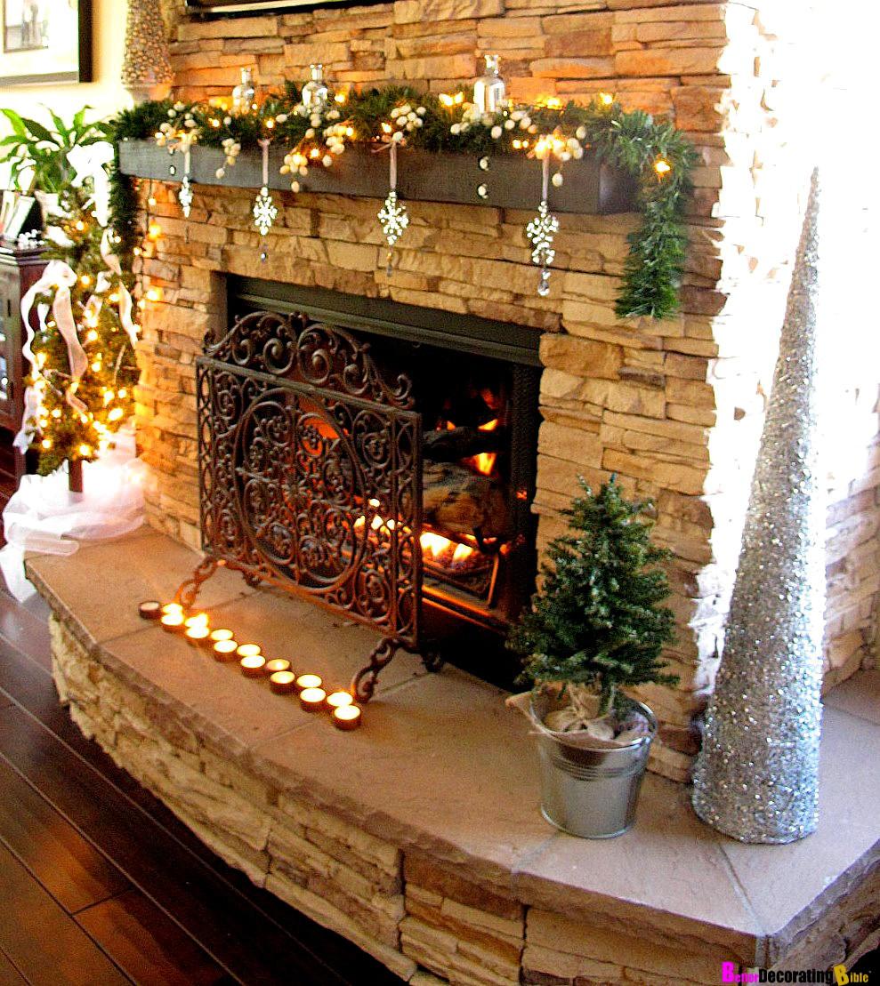 Fireplace Mantel Christmas Ideas  Orange Xmas