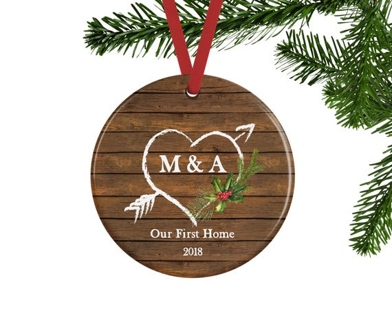 First Apartment Christmas Ornament  Our First Home Ornament Personalized Christmas Ornament