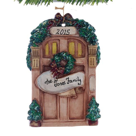 First Apartment Christmas Ornament  Personalized Front Door Christmas Ornament Perfect for the