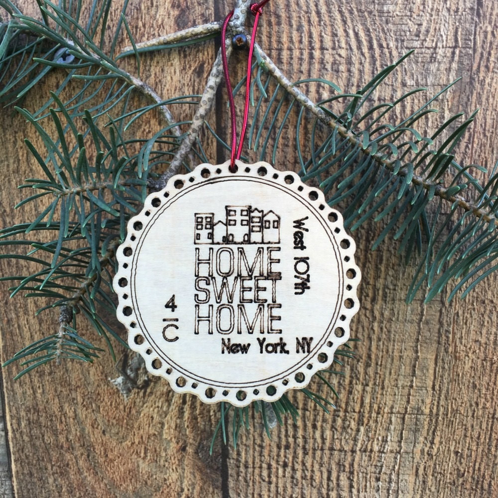 First Apartment Christmas Ornament  Rustic Our First Apartment Ornament First Apartment Christmas