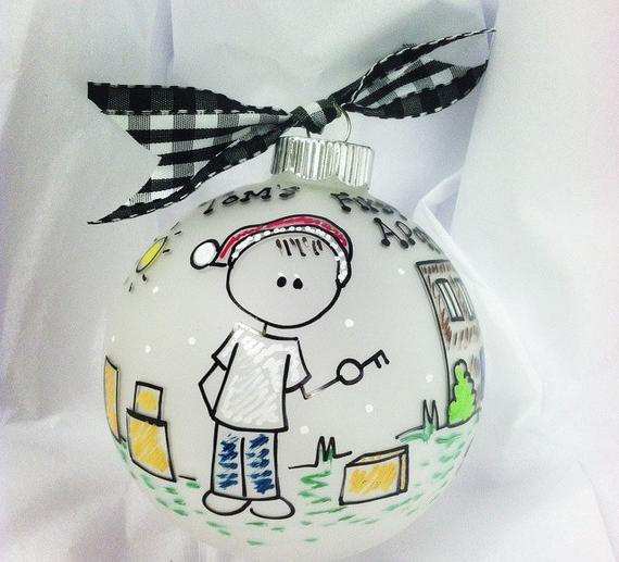First Apartment Christmas Ornament  MY First APARTMENT Christmas PERSONALIZED Ornament with