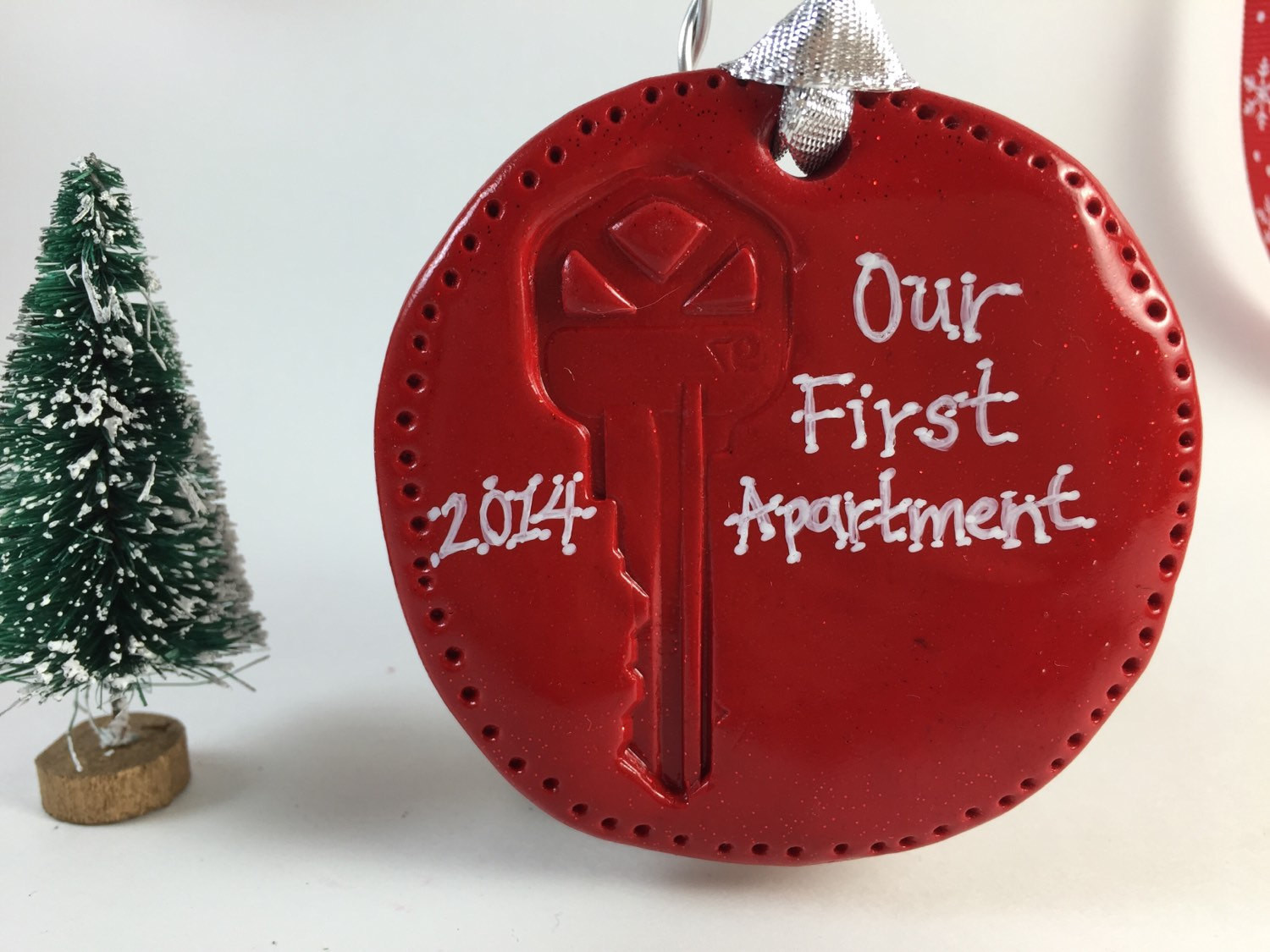 First Apartment Christmas Ornament  Our or My First Apartment or Home Key Ornament