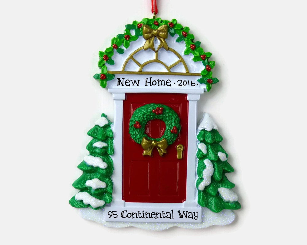 First Apartment Christmas Ornament  Red Door Personalized Ornament New Home First Apartment