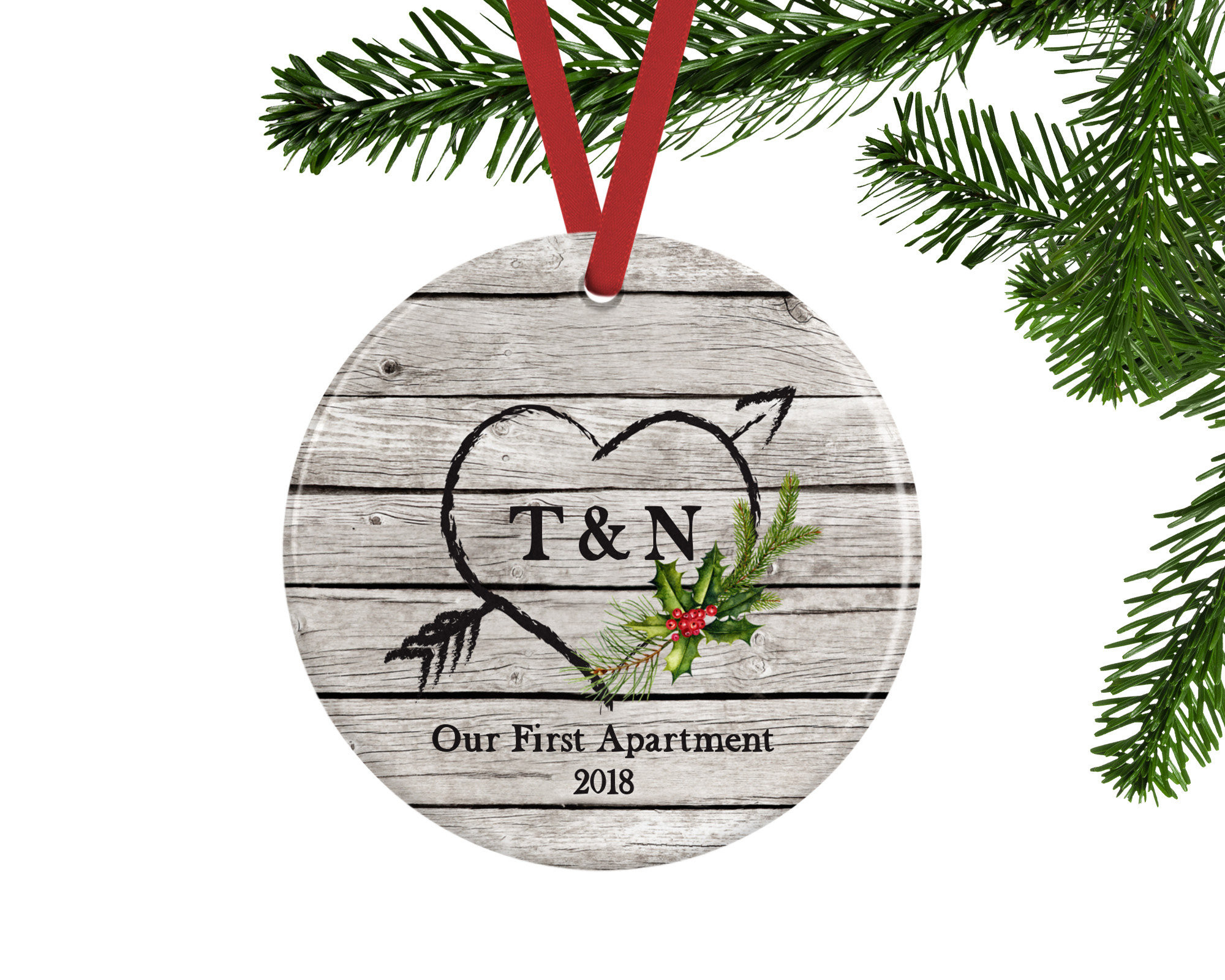 First Apartment Christmas Ornament  Our First Apartment Christmas Ornament Personalized Gift for