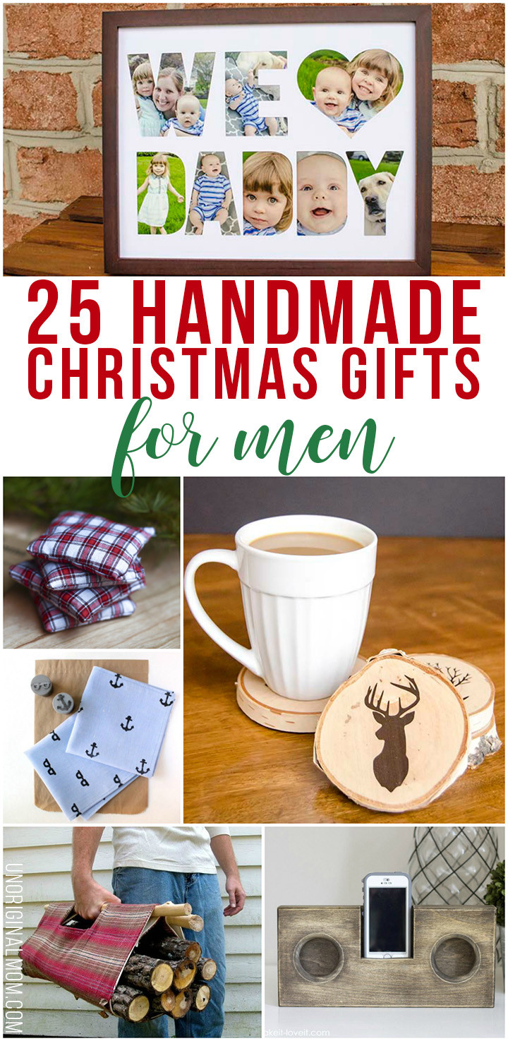 First Christmas Together Gift Ideas For Him  25 Handmade Christmas Gifts for Men unOriginal Mom