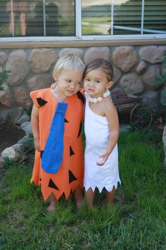 Flintstones Costumes DIY  Twin and Pregnancy DIY Costumes