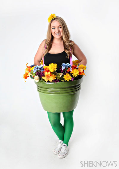 Flower Halloween Costume For Adults  How to make a flower pot Halloween costume