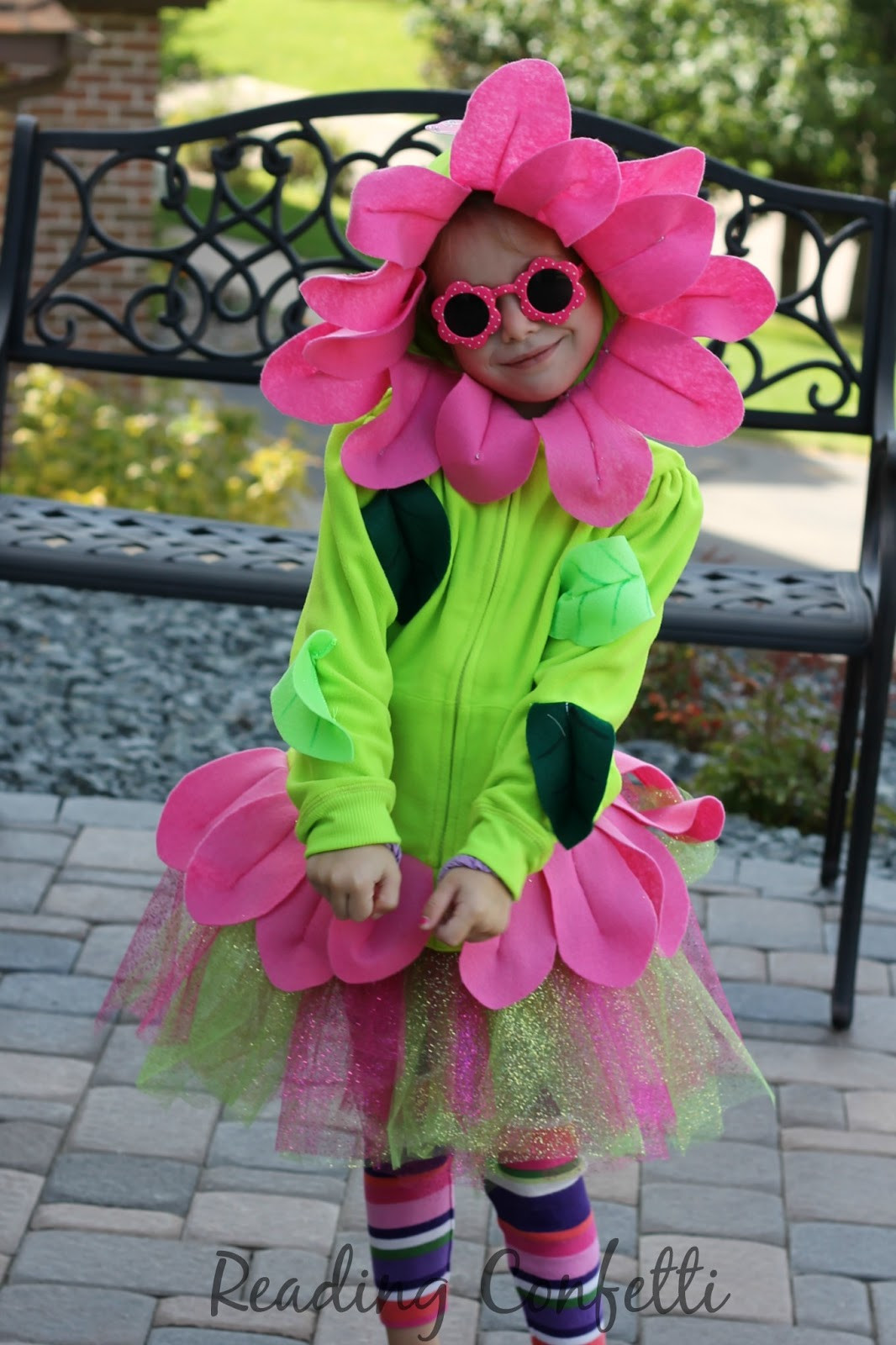 Flower Halloween Costume For Adults  DIY Flower Costume Reading Confetti