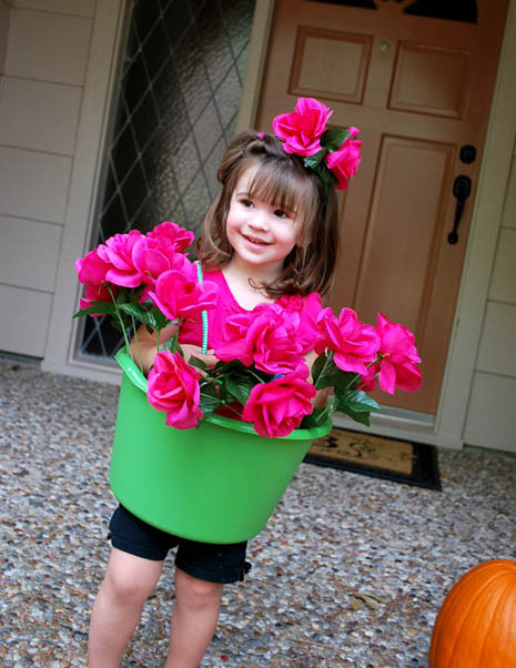 Flower Halloween Costume For Adults  Flower Pot Girl Costume Tutorial Clumsy Crafter