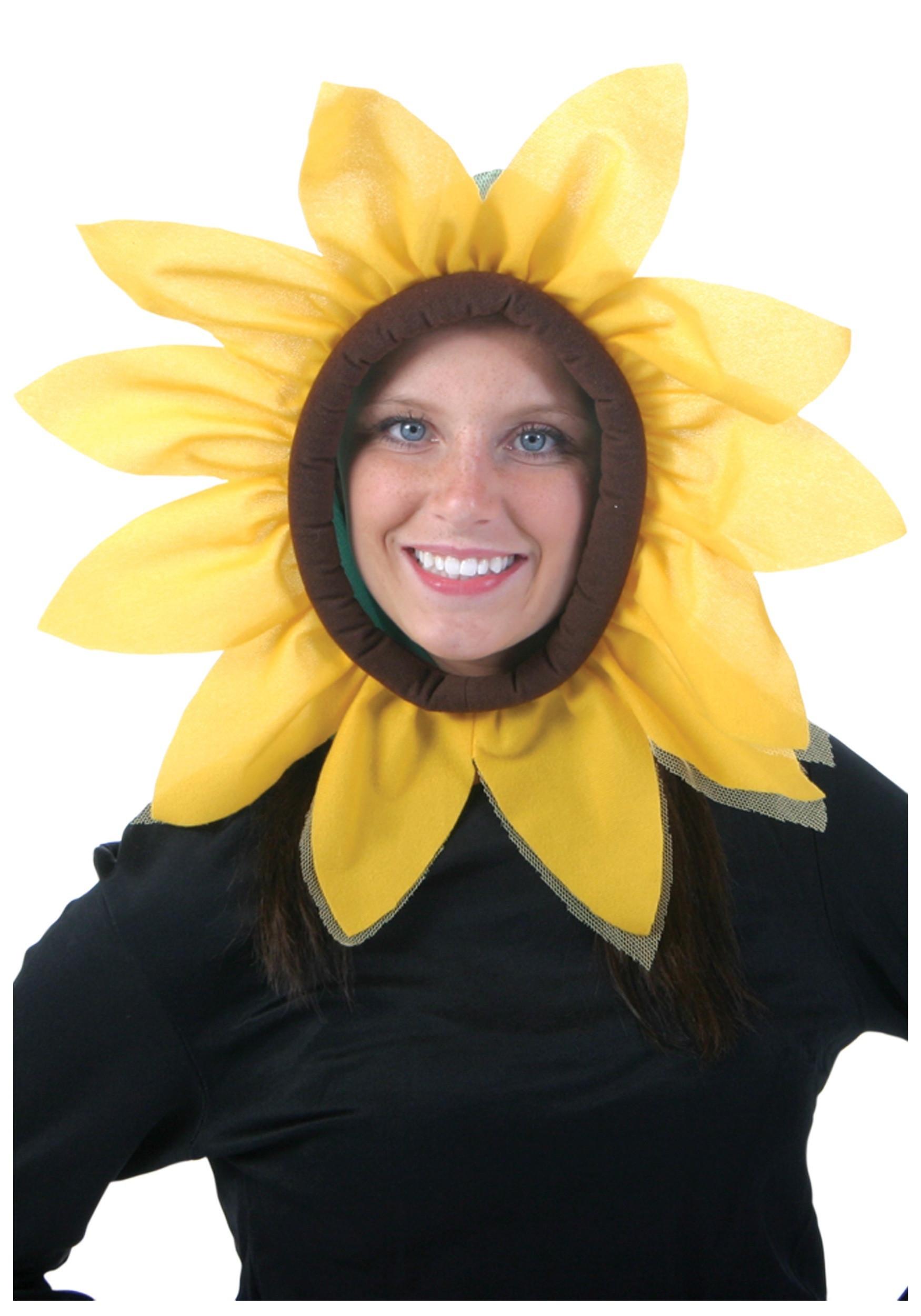 Flower Halloween Costume For Adults  Sunflower Hood