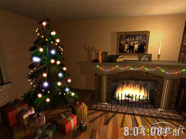 Free Christmas Fireplace Screensaver  Download Free Christmas Fireplace 3D Screensaver