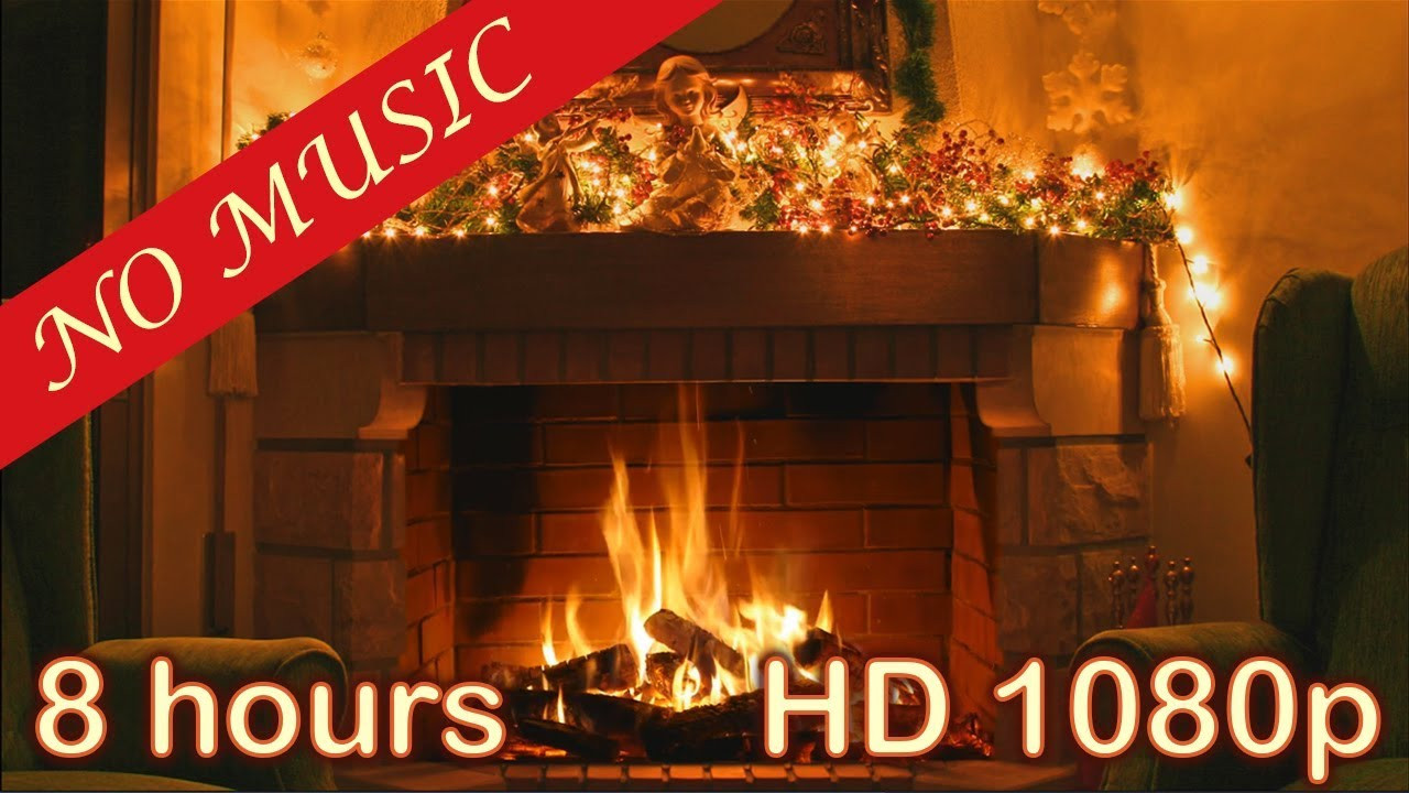 Free Christmas Fireplace Screensaver  8 HOURS CHRISTMAS FIREPLACE Christmas Fireplace Burning