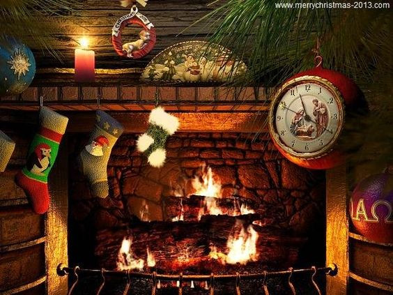 Free Christmas Fireplace Screensaver  Fireplaces Fireplace decorations and Christmas on Pinterest