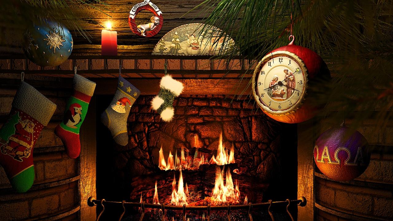 Free Christmas Fireplace Screensaver  Fireside Christmas 3D Screensaver & Live Fireplace