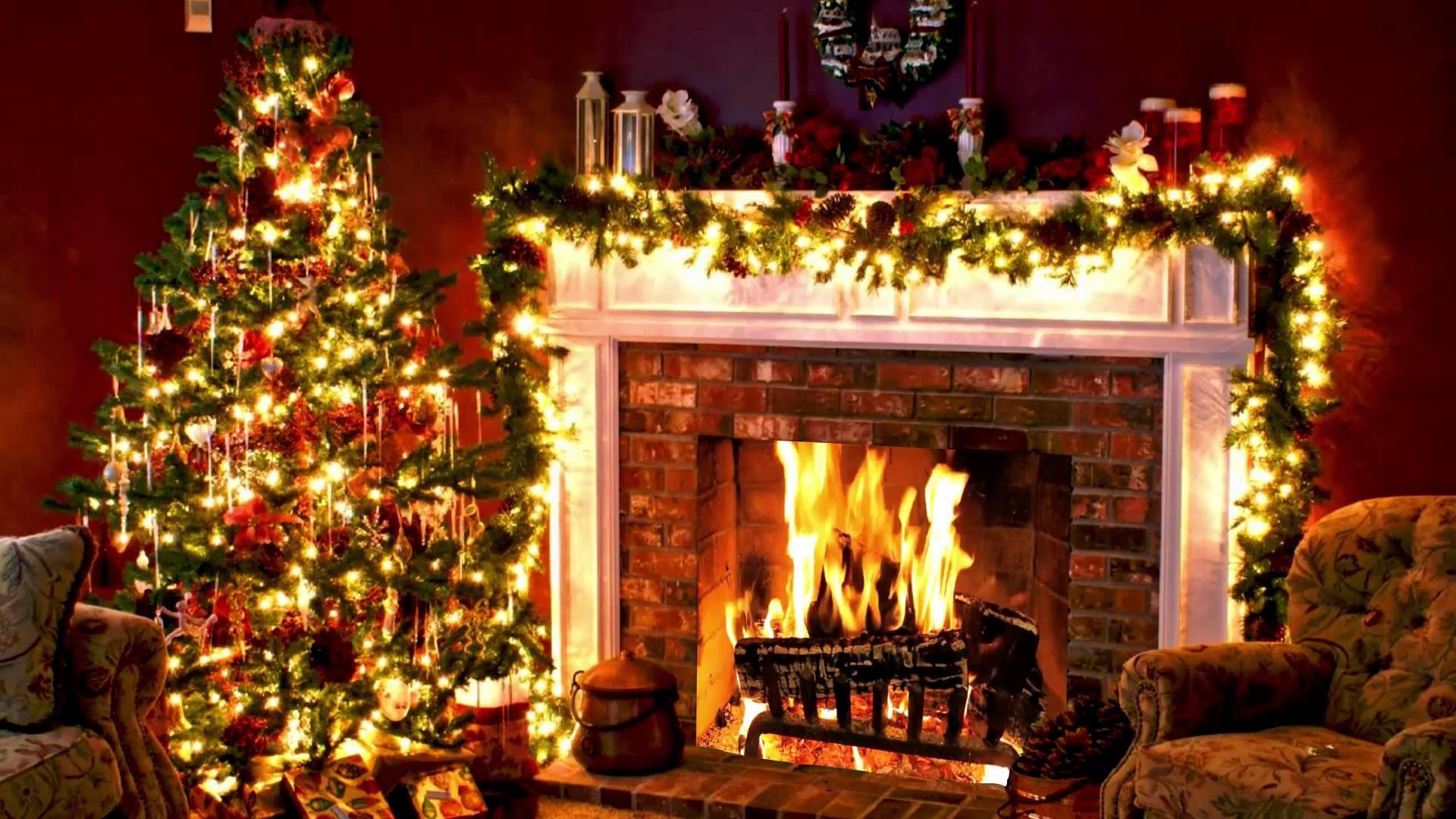 Free Christmas Fireplace Screensaver  Christmas Fireplace Background ·① WallpaperTag