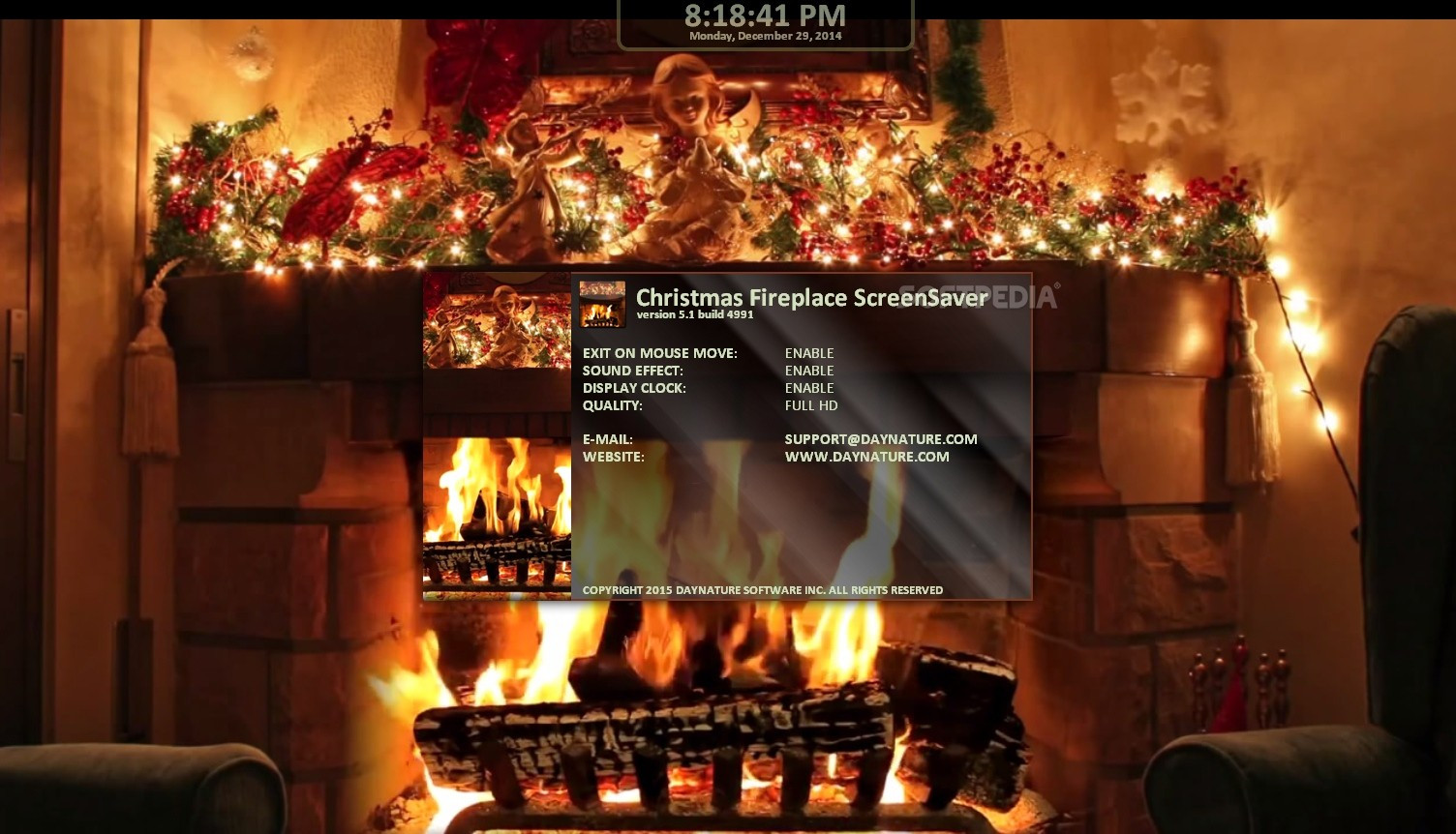Free Christmas Fireplace Screensaver  Download free High Quality Christmas With Music