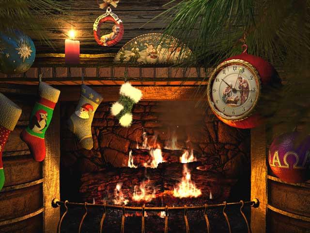Free Christmas Fireplace Screensaver  Holidays 3D Screensavers Fireside Christmas Animated