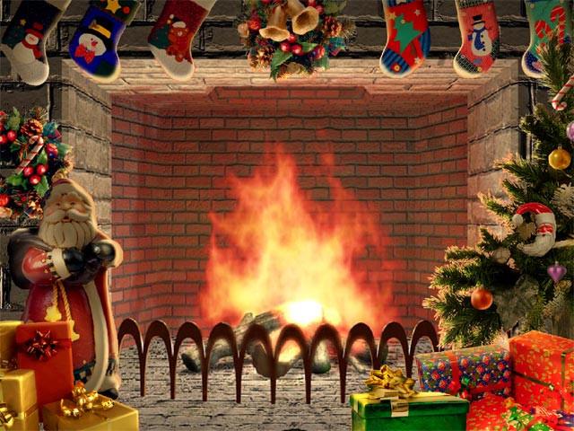 Free Christmas Fireplace Screensaver  Christmas Living 3D Fireplace Screensaver free