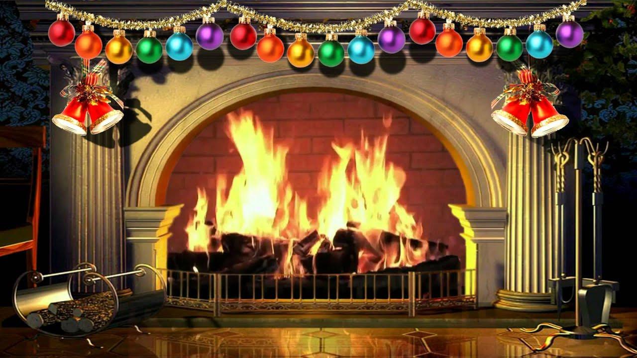 Free Christmas Fireplace Screensaver  Virtual Christmas Fireplace With Music Free video 1080p
