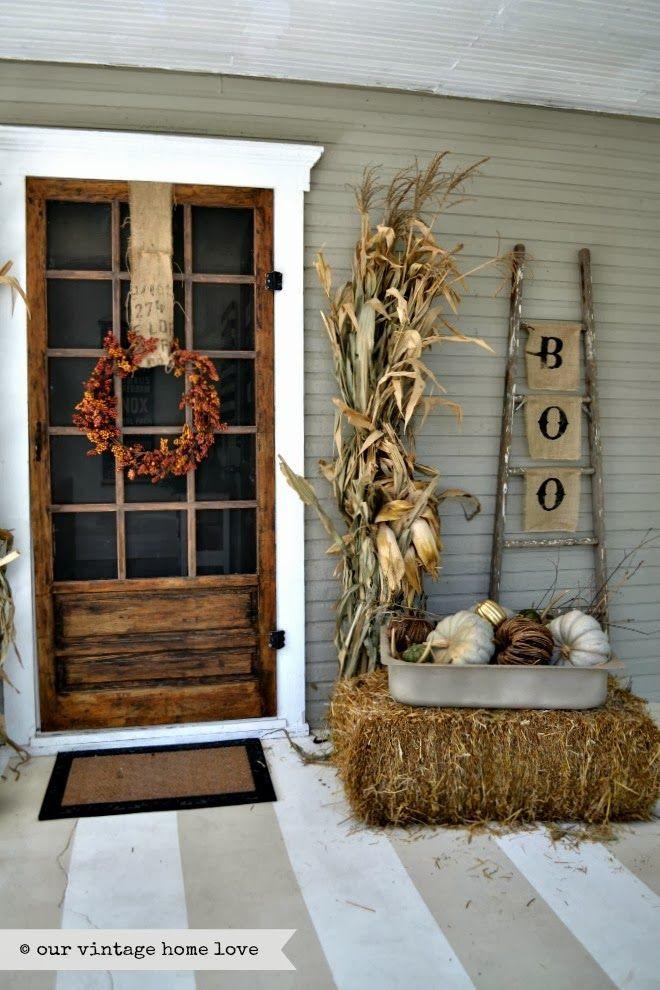 Front Porch Fall Decorations  Fall Front Door Decor Ideas