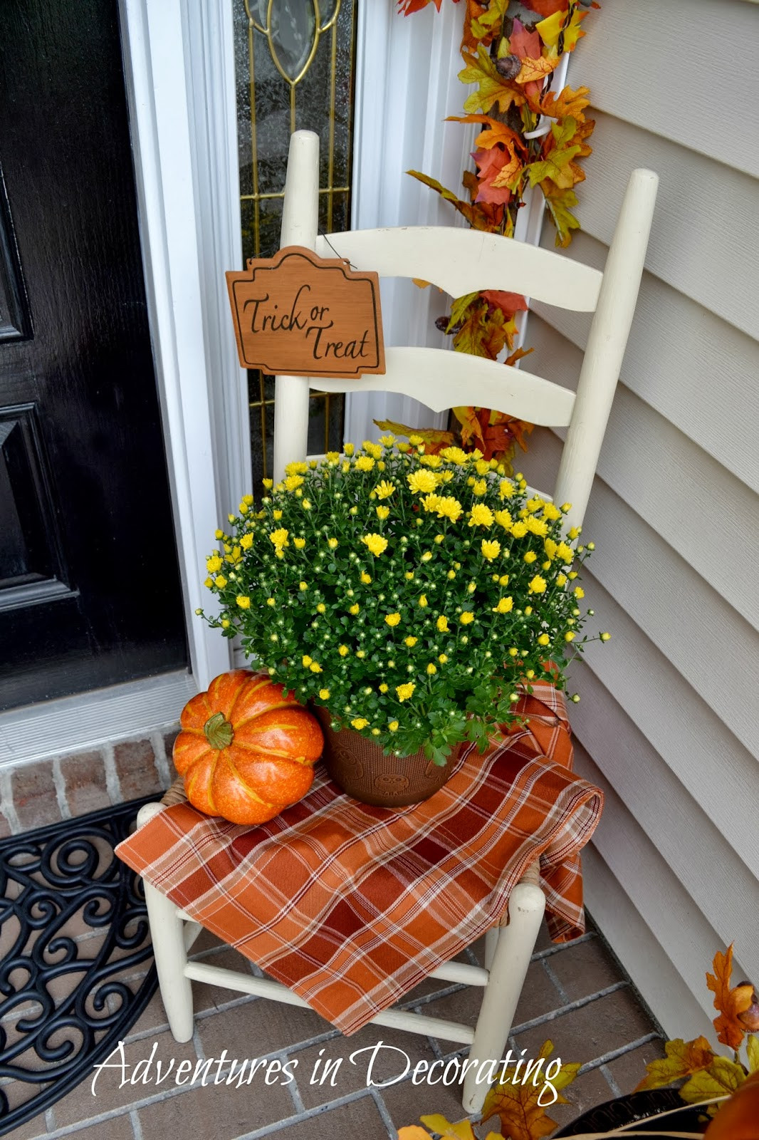 Front Porch Fall Decorations  Adventures in Decorating Our Fall Front Porch