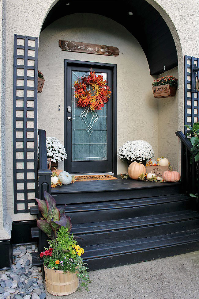 Front Porch Fall Decorations  Fall Front Porch Clean and Scentsible