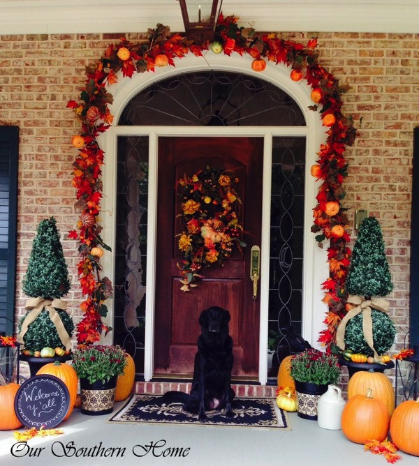 Front Porch Fall Decorations  10 Fall Porch Ideas