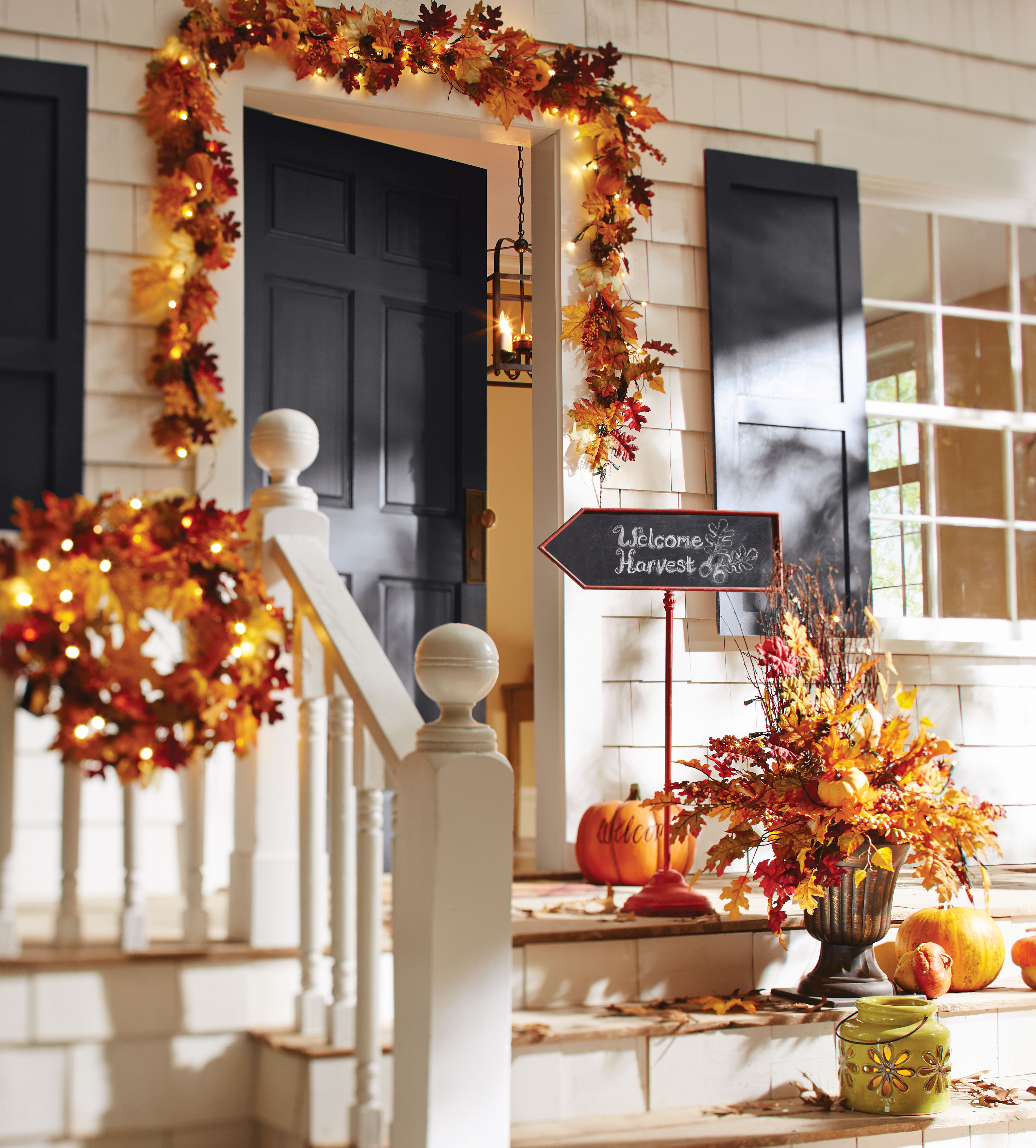 Front Porch Fall Decorations  Fall Decorating Ideas For Your Front Porch and Entryway