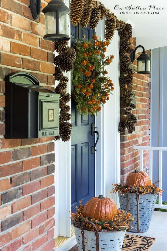 Front Porch Fall Decorations  Easy DIY Fall Porch Decor Ideas Sutton Place