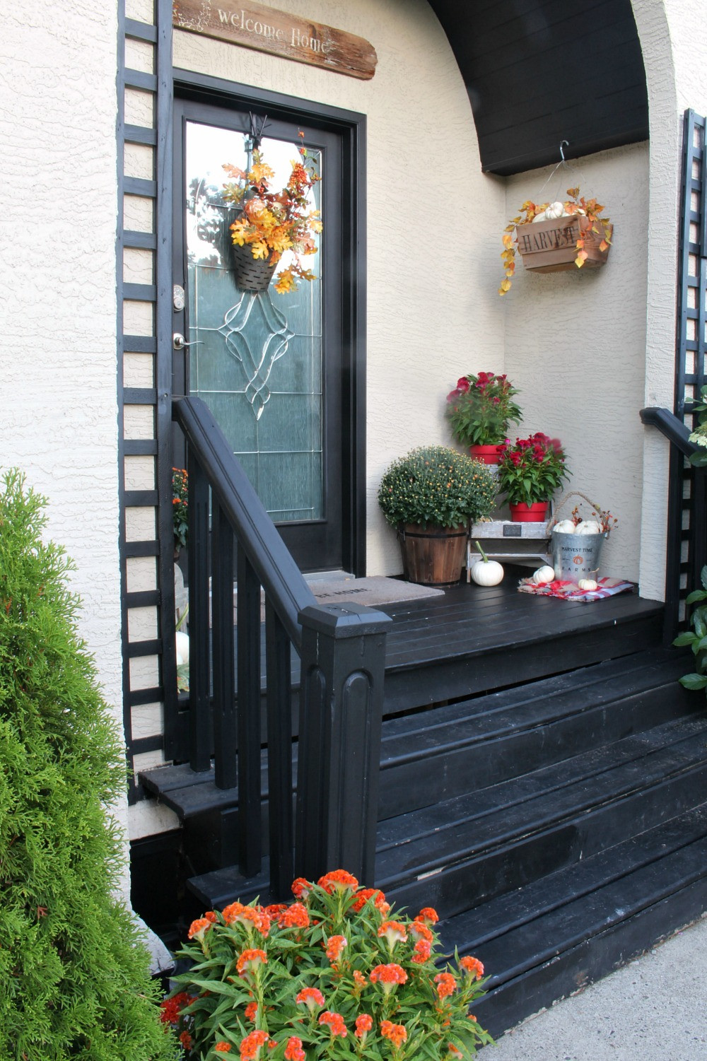 Front Porch Fall Decorations  Fall Porch Decorating Ideas Clean and Scentsible