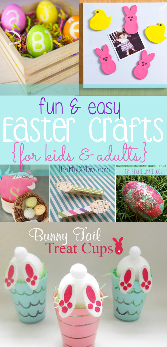 Fun Easy Crafts For Adults  Easy Easter Crafts for Kids and Adults