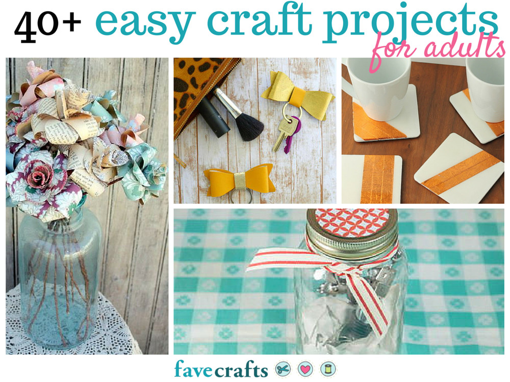 Fun Easy Crafts For Adults  44 Easy Craft Projects For Adults