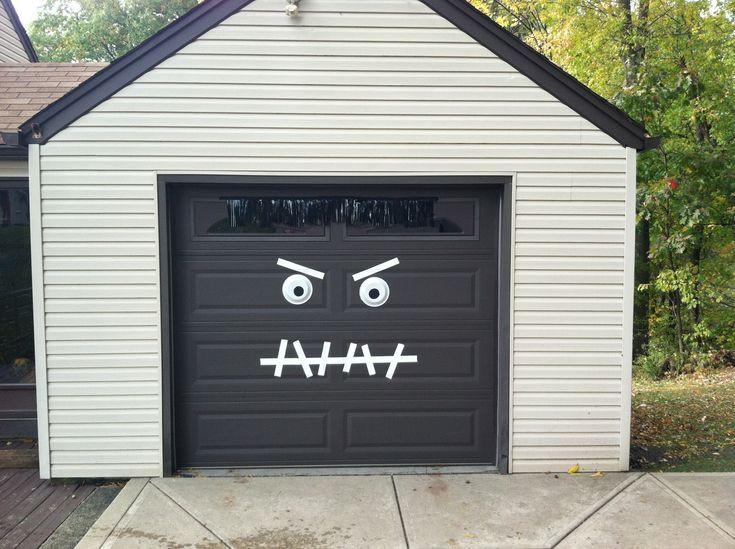 Garage Door Halloween Decoration  Monster Garage Door Halloween Decoration Easy 2 make