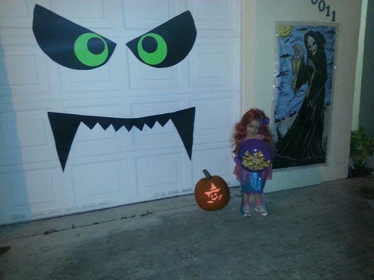 Garage Door Halloween Decoration  Our DIY Boogie Monster Halloween decoration on our garage