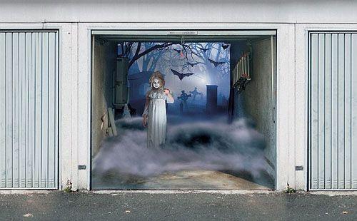 Garage Door Halloween Decoration  Halloween Decor