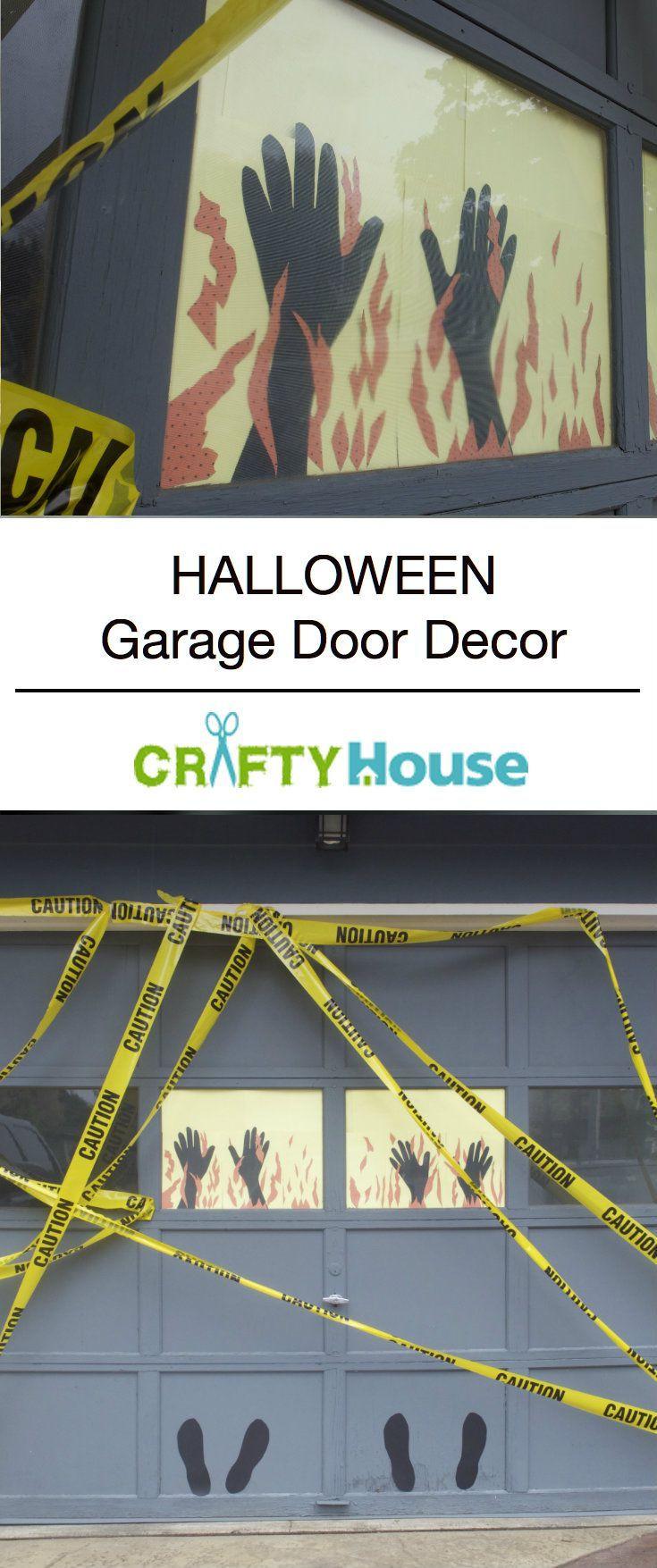 Garage Door Halloween Decoration  Best 25 Halloween garage door ideas on Pinterest